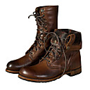 cheap Men's Boots-Fashion Boots PU(Polyurethane) Fall / Winter Boots Booties / Ankle Boots / Mid-Calf Boots Brown / Party & Evening