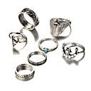 זול Fashion Ring-בגדי ריקוד נשים טבעות לפרקי האצבעות - סגסוגת MOON וינטאג', בוהמי, בוהו מידה אחת One Size כסף עבור יומי / בר