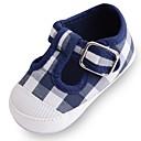 זול נעלי ילדות-בנות נעליים בד אביב קיץ נוחות / צעדים ראשונים / נעליים לעריסה שטוחות סקוטש ל לבן / כחול / ורוד