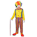 preiswerte Kostüme für Erwachsene-Burleske Clown / Zirkus Cosplay Kostüme / Party Kostüme Herrn / Damen Karneval Fest / Feiertage Halloween Kostüme Regenbogen Einfarbig Party / Abends / Männer Uniform