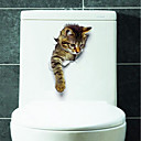 cheap Wall Stickers-Animals Wall Stickers 3D Wall Stickers Toilet Stickers, Vinyl Home Decoration Wall Decal Toilet