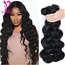 זול תוספות שיער בגוון טבעי-3 חבילות שיער ברזיאלי Body Wave שיער אנושי טווה שיער אדם שוזרת שיער אנושי תוספות שיער אדם