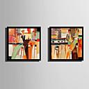 זול אומנות ממוסגרת-מופשט אנשים איור וול ארט,פלסטיק חוֹמֶר עם מסגרת For קישוט הבית אמנות מסגרת סלון פנימי