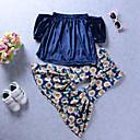 tanie Zestawy ubrań dla dziewczynek-Brzdąc Dla dziewczynek Boho Urlop Jendolity kolor / Kwiaty Komplet odzieży / Urocza