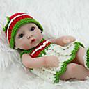 זול בובות-NPK DOLL בובה מחדש תינוקות בנות 12 אִינְטשׁ גוף מלא סיליקון / סיליקון / ויניל - כְּמוֹ בַּחַיִים, ריסים ידניים, ציפורניים אטומות וחותמות הילד של בנות מתנות / CE / עור טבעי / ראש דיסקט