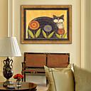 זול אומנות ממוסגרת-חיות פרחוני/בוטני איור וול ארט,פלסטיק חוֹמֶר עם מסגרת For קישוט הבית אמנות מסגרת סלון