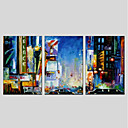 cheap People Paintings-Oil Painting Hand Painted - Landscape Modern Canvas