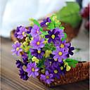 baratos Flor artificiali-Flores artificiais 2 Ramo Pastoril Estilo Margaridas Flor de Mesa