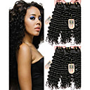 cheap One Pack Hair-6 Bundles Brazilian Hair Deep Wave Virgin Human Hair Natural Color Hair Weaves / Hair Bulk Human Hair Weaves Human Hair Extensions