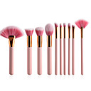 cheap Makeup Brush Sets-10-Pack Makeup Brushes Professional Permanent Makeup Kit Supplies Synthetic Hair / Artificial Fibre Brush Soft Wood Big Brush / Small