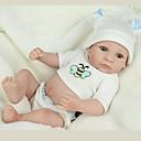 tanie Lalki-NPK DOLL Lalki Reborn Dziecko 12 in Silikony całego ciała Silikon Winyl - Jak żywy Śłodkie Wyrób ręczny Bezpieczne dla dziecka Nietoksyczne Słodkie Dzieciak Dla dziewczynek Zabawki Prezent