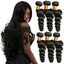 זול תוספות שיער בגוון טבעי-6 צרורות שיער ברזיאלי גלי משוחרר שיער אנושי טווה שיער אדם שוזרת שיער אנושי איכות מעולה / חג המולד / נוער תוספות שיער אדם בגדי ריקוד נשים