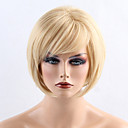 cheap Synthetic Capless Wigs-Synthetic Wig Straight Bob Haircut / With Bangs Synthetic Hair Side Part Blonde Wig Women's Short Capless