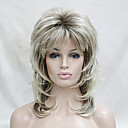 cheap Synthetic Capless Wigs-new blonde with dark root medium length cascaded layers synthetic hair women s full wig