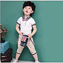 זול חולצות לבנים-סט של בגדים כותנה אקריליק שרוול קצר יומי ספורט ליציאה חגים בית הספר אחיד גלקסיה דפוס בנים פשוט וינטאג' חמוד יום יומי פעיל לבן ורוד מסמיק