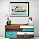olcso Absztrakt festmények-Absztrakt Állatok Illusztráció Wall Art,Műanyag Anyag a Frame For lakberendezési frame Art Nappali szoba