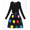 זול שמלות לבנות-בנות וינטאג' / יום יומי מכנסיים - דפוס שחור / בית הספר / כותנה / בית הספר