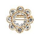 olcso Tűk és brossok-Női Kocka cirkónia Melltűk - Cirkonium Gótikus, Nyilatkozat Bross Arany Kompatibilitás Esküvő / Ajándék