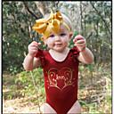 זול ילדים אביזרים לשיער-בנות פשוט כותנה מכנסיים - אחיד / פרחוני / דפוס קפלים / סגנון לב / סגנון מודרני אודם / חמוד / חגים / ליציאה / פעוטות