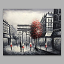 זול ציורים מופשטים-ציור שמן צבוע-Hang מצויר ביד - L ו-scape מודרני בַּד