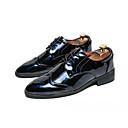 baratos Sapatos Esportivos Masculinos-Homens Couro Ecológico Primavera / Outono Conforto Oxfords Caminhada Preto / Vermelho / Azul
