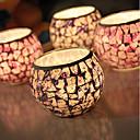 זול נרות ופמוטים-סגנון מינימליסטי / מודרני / עכשווי זכוכית פמוטים 1pc, מחזיק נר / נרות