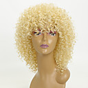 cheap Christmas Party Supplies-Synthetic Wig Kinky Curly Blonde Synthetic Hair African American Wig Blonde Wig 8-11inch Capless Blonde