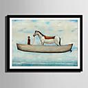 hesapli Çerçeveli Resimler-Çerçeveli Tuval Çerçeve Seti - Soyut Hayvanlar Plastik Çizim Duvar Sanatı