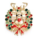 cheap Brooches-Women's AAA Cubic Zirconia Brooches - Korean Brooch Assorted Color For Christmas / Gift / New Year