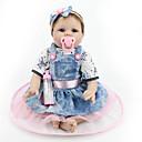 ieftine USB Flash Drives-NPKCOLLECTION Păpuși Renăscute Bebe Fetiță 22 inch Silicon Vinil - natural Drăguț Confecționat Manual Siguranță Copii Non Toxic Încântător Lui Kid Fete Jucarii Cadou / Interacțiunea părinte-copil