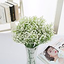 cheap Artificial Flower-Artificial Flowers 4 Branch Pastoral Style Baby Breath Tabletop Flower
