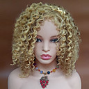cheap Synthetic Capless Wigs-blonde color kinky curly women fashion european and american synthetic wigs