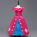 זול שמלות לבנות-שמלה כותנה קיץ שרוול קצר Party ליציאה פרחוני טלאים הילדה של חמוד יום יומי פוקסיה