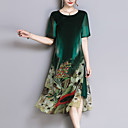 cheap Brooches-Women's Plus Size Going out Loose Sheath / Chiffon Dress - Floral Print / Spring / Summer