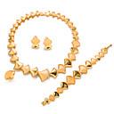 זול סט תכשיטים-בגדי ריקוד נשים סט תכשיטים - ציפוי זהב Leaf Shape אופנתי, הצהרה לִכלוֹל זהב עבור חתונה / Party