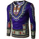 billige Zentai-Rund hals T-skjorte Herre - Geometrisk / Langermet