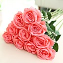 cheap Artificial Flower-Artificial Flowers 2 Branch European Style / Pastoral Style Roses Tabletop Flower