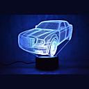 tanie Nowoczesne oświetlenie-1 zestaw 3D Nightlight Zmiana USB Czujnik dotyku / Zmieniająca Kolor / Z portem USB