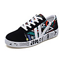 cheap Women's Boots-Women's Shoes Fabric / PU(Polyurethane) Spring / Fall Comfort Sneakers Low Heel Round Toe Black / White / Black / Blue