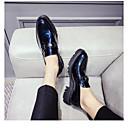 זול נעלי ספורט לגברים-בגדי ריקוד גברים PU אביב / סתיו נוחות נעליים ללא שרוכים שחור / כחול
