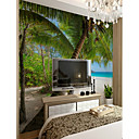 cheap Wall Murals-Botanical Art Deco 3D Home Decoration Classic Modern Wall Covering, Canvas Material Adhesive required Mural, Room Wallcovering
