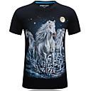 abordables Decoración y Gravilla de Acuario-Hombre Activo Camiseta, Escote Redondo Delgado / Manga Corta / Largo