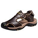 tanie Sandały męskie-Męskie Komfortowe buty Skóra bydlęca Lato Sportowy Sandały Kawowy / Jasnobrązowy / Khaki