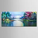 baratos Pinturas Paisagens-Pintura a Óleo Pintados à mão - Abstrato Paisagem Modern Tela de pintura