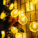 זול חוט נורות לד-1.5 מ ' חוטי תאורה 10 נוריות 1.5M מחרוזת אור לבן חם דקורטיבי סוללות AA 1pc