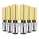 cheap LED Candle Lights-YWXLIGHT® 6pcs 7W 600-700lm E14 G9 G4 BA15D LED Bi-pin Lights T 80 LED Beads SMD 5730 Dimmable Decorative Warm White Cold White 110-130V