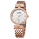 cheap Bakeware-CADISEN Women's Fashion Watch Japanese Calendar / date / day / Water Resistant / Water Proof / Casual Watch Stainless Steel Band Fashion / Elegant White / Rose Gold / Two Years / Sony SR626SW+CR2025