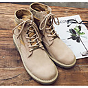 cheap Men's Boots-Men's Combat Boots Nubuck leather Fall / Winter Comfort Boots Booties / Ankle Boots Khaki