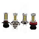 baratos Luzes de Neblina para Carros-H8 / 9006 / 9005 Carro Lâmpadas 35W SMD 3528 3200lm 66 Luz Anti Neblina For Universal Todos os Modelos Todos os Anos