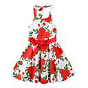 זול שמלות לבנות-שמלה פוליאסטר קיץ ללא שרוולים Party ליציאה פרחוני דפוס הילדה של חמוד בוהו אודם